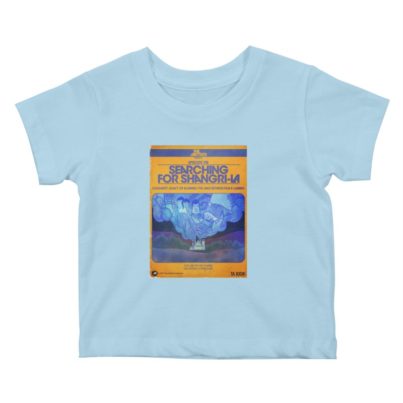 Box Art Apparel Series: Searching for Shangri-La Kids Baby T-Shirt by The Artists