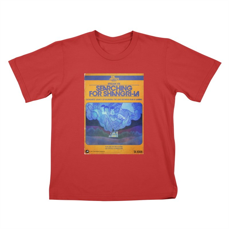 Box Art Apparel Series: Searching for Shangri-La Kids T-Shirt by The Artists