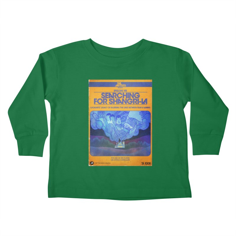 Box Art Apparel Series: Searching for Shangri-La Kids Toddler Longsleeve T-Shirt by The Artists