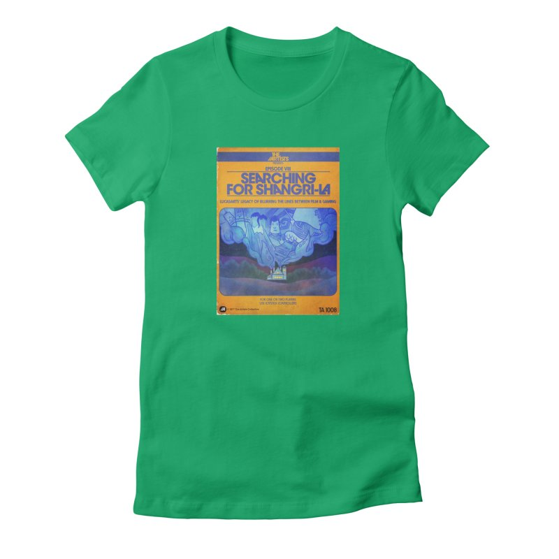 Box Art Apparel Series: Searching for Shangri-La Women's T-Shirt by The Artists
