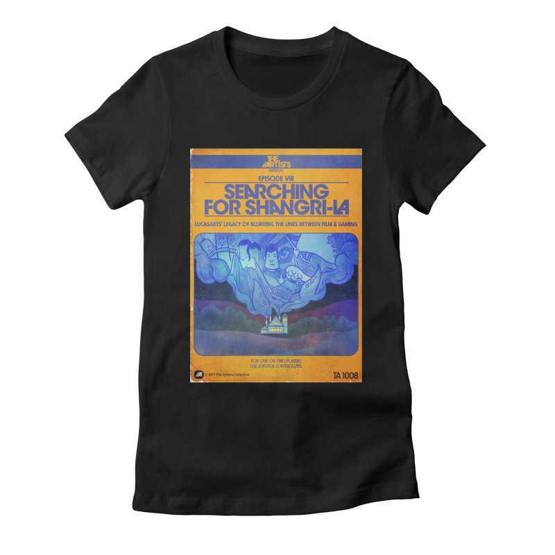 Box Art Apparel Series: Searching for Shangri-La Women's Fitted T-Shirt by The Artists