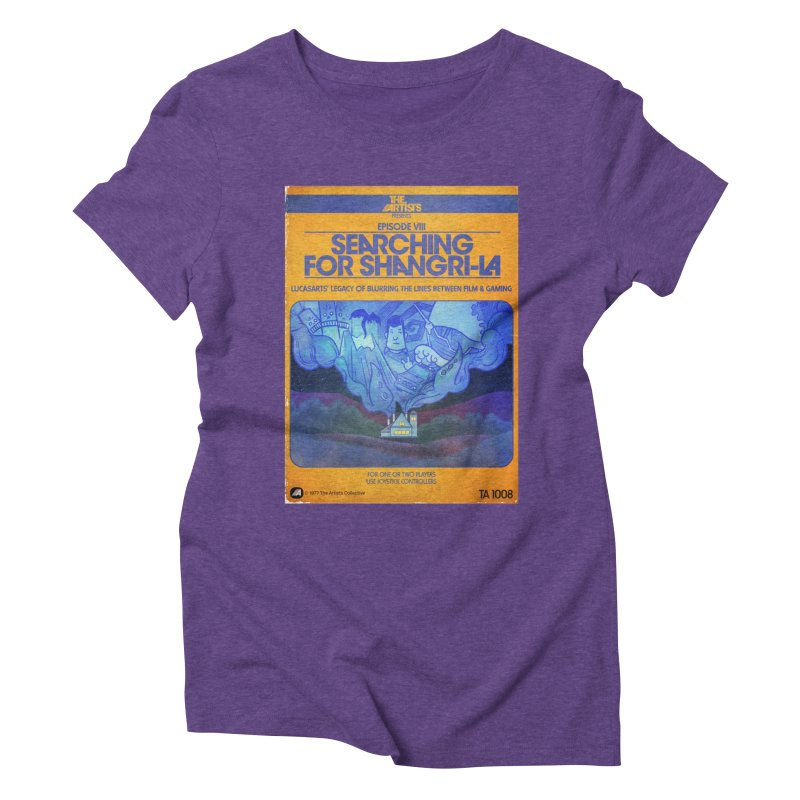 Box Art Apparel Series: Searching for Shangri-La Women's Triblend T-Shirt by The Artists