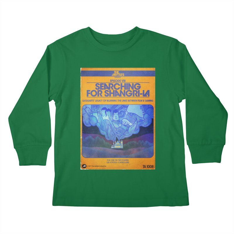 Box Art Apparel Series: Searching for Shangri-La Kids Longsleeve T-Shirt by The Artists