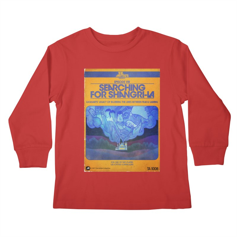 Box Art Apparel Series: Searching for Shangri-La Kids Longsleeve T-Shirt by The Artists