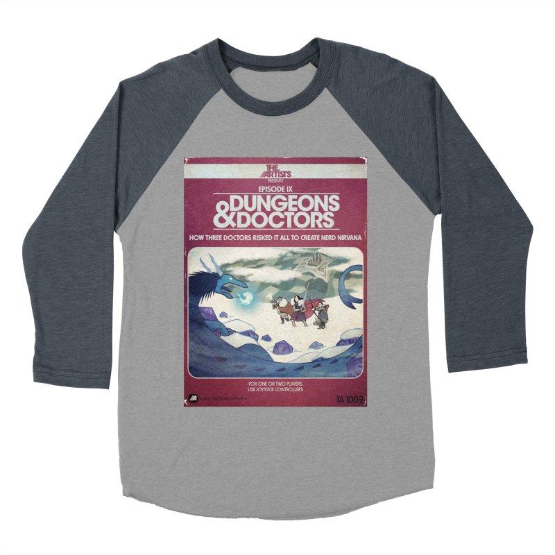 Box Art Apparel Series: Dungeons & Doctors Women's Baseball Triblend Longsleeve T-Shirt by The Artists
