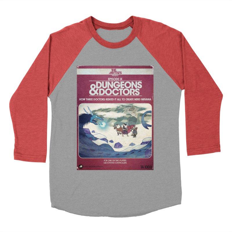Box Art Apparel Series: Dungeons & Doctors Men's Baseball Triblend Longsleeve T-Shirt by The Artists