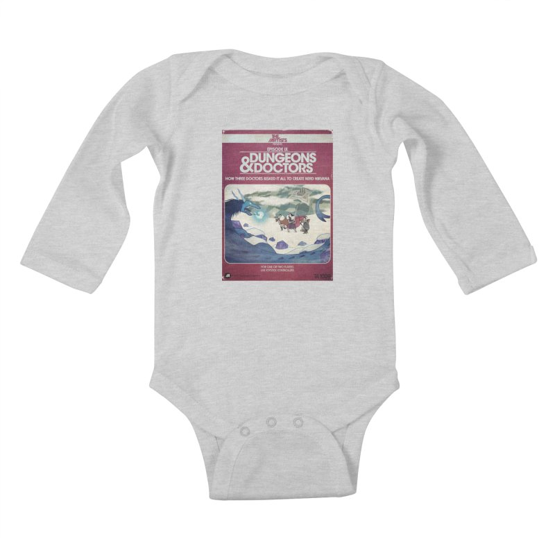 Box Art Apparel Series: Dungeons & Doctors Kids Baby Longsleeve Bodysuit by The Artists