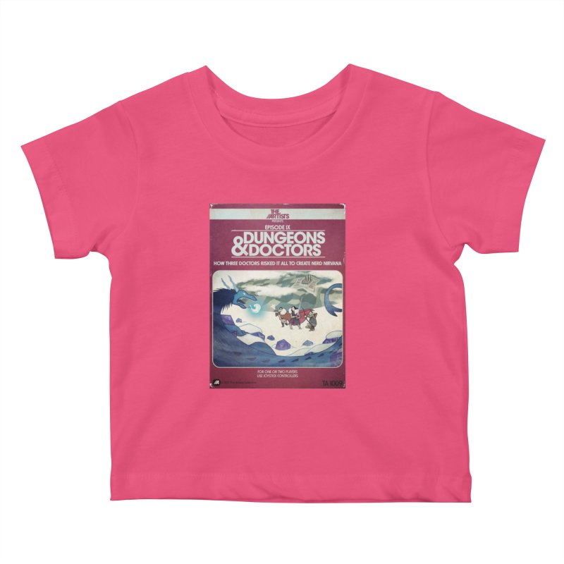 Box Art Apparel Series: Dungeons & Doctors Kids Baby T-Shirt by The Artists