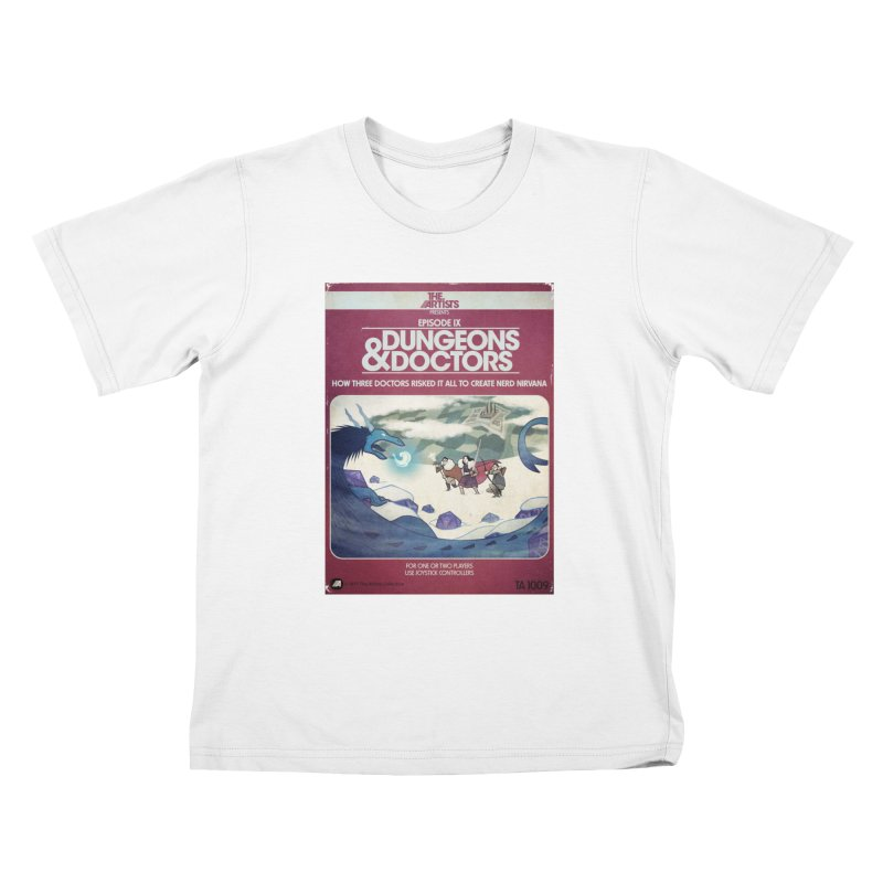 Box Art Apparel Series: Dungeons & Doctors Kids T-Shirt by The Artists