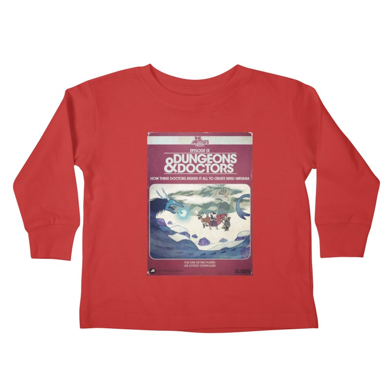 Box Art Apparel Series: Dungeons & Doctors Kids Toddler Longsleeve T-Shirt by The Artists