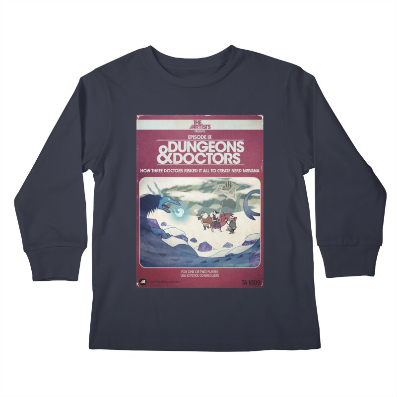 Box Art Apparel Series: Dungeons & Doctors Kids Longsleeve T-Shirt by The Artists