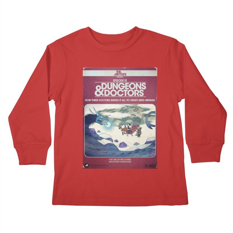Box Art Apparel Series: Dungeons & Doctors Kids Longsleeve T-Shirt by The Artists