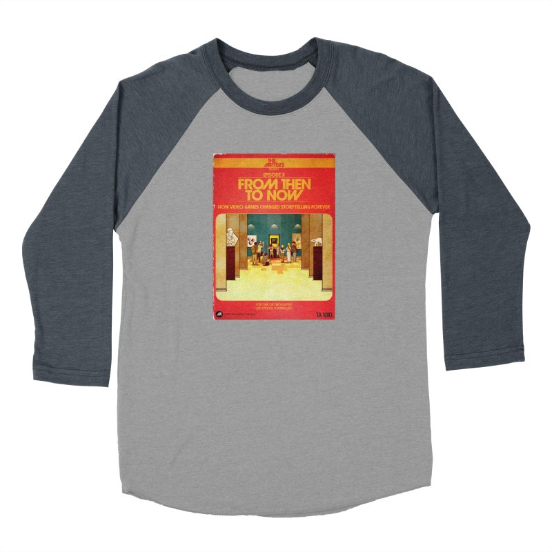 Box Art Apparel Series: From Then to Now Women's Baseball Triblend Longsleeve T-Shirt by The Artists