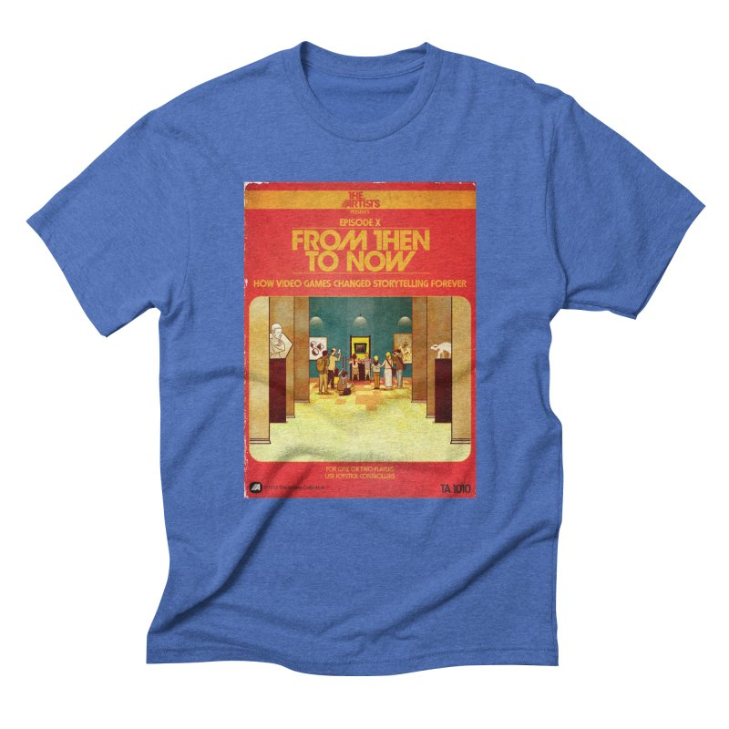Box Art Apparel Series: From Then to Now Men's Triblend T-Shirt by The Artists