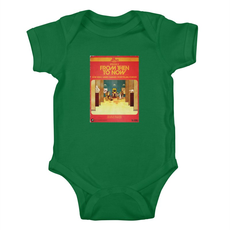 Box Art Apparel Series: From Then to Now Kids Baby Bodysuit by The Artists