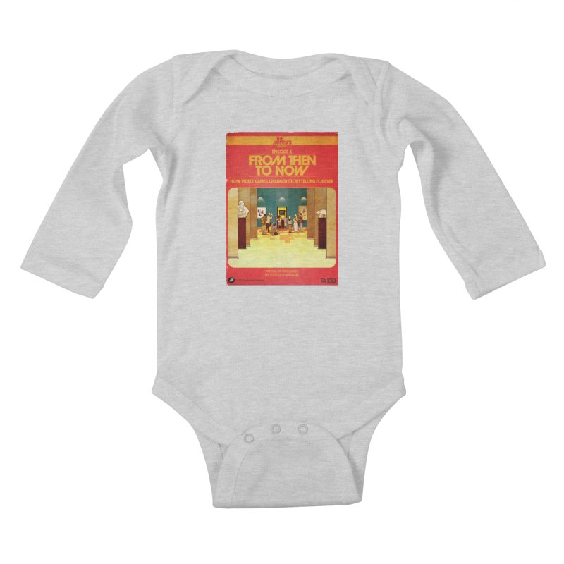 Box Art Apparel Series: From Then to Now Kids Baby Longsleeve Bodysuit by The Artists