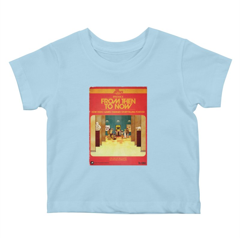 Box Art Apparel Series: From Then to Now Kids Baby T-Shirt by The Artists