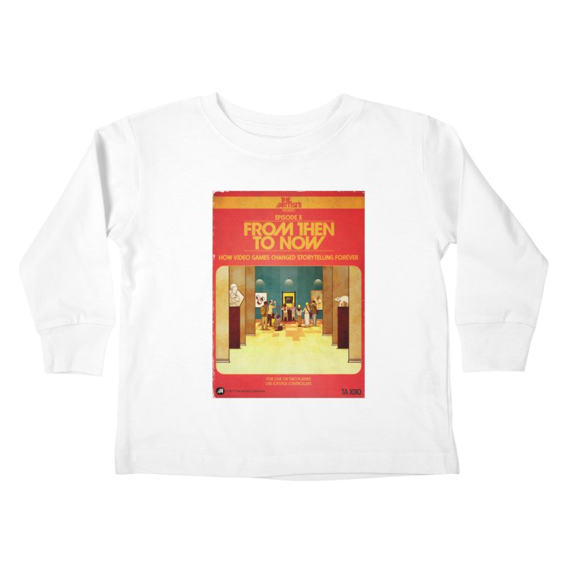 Box Art Apparel Series: From Then to Now Kids Toddler Longsleeve T-Shirt by The Artists