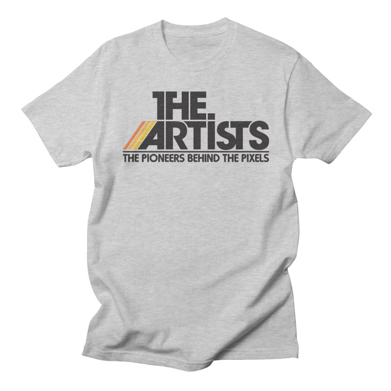 Artists Logo Blip Blip in Men's Regular T-Shirt Heather Grey by The Artists