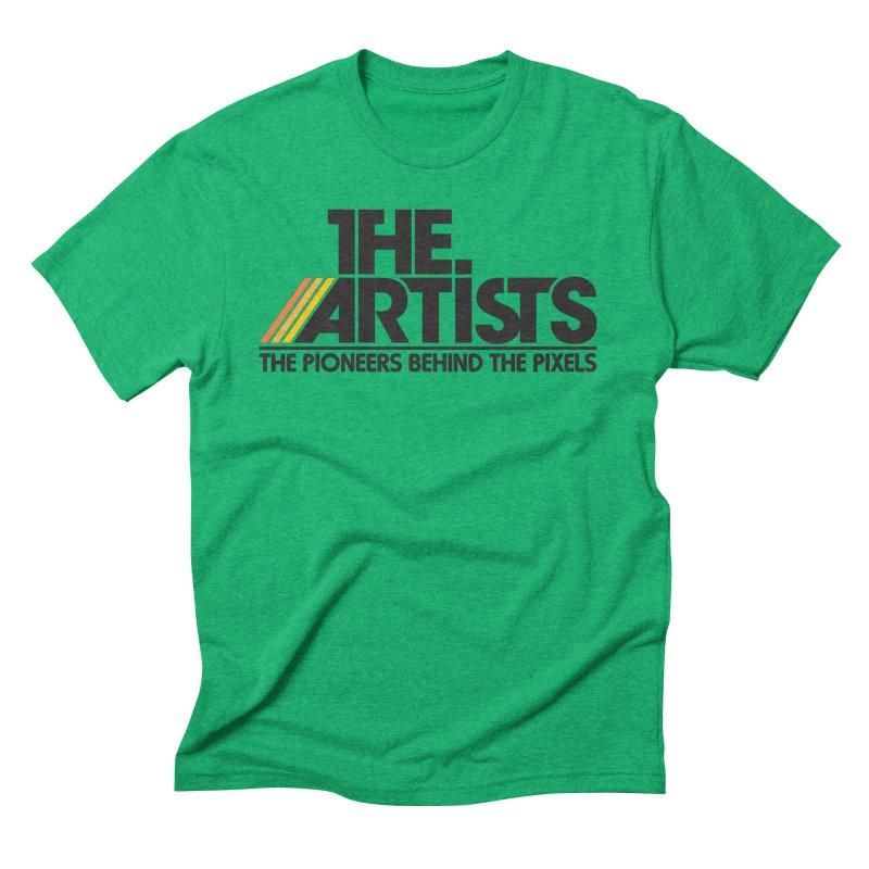 Artists Logo Blip Blip Men's Triblend T-Shirt by The Artists