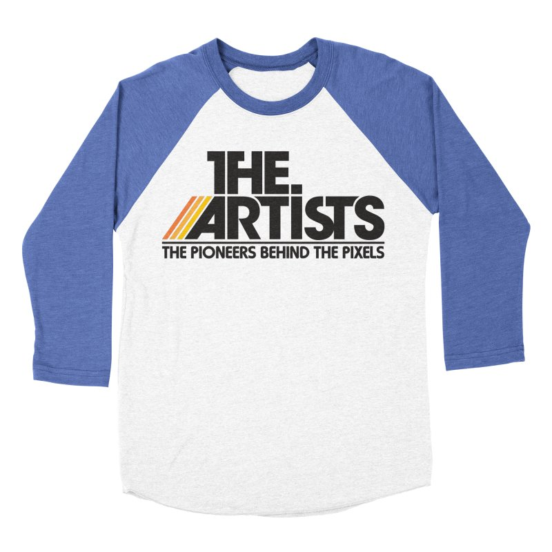 Artists Logo Blip Blip Men's Baseball Triblend Longsleeve T-Shirt by The Artists