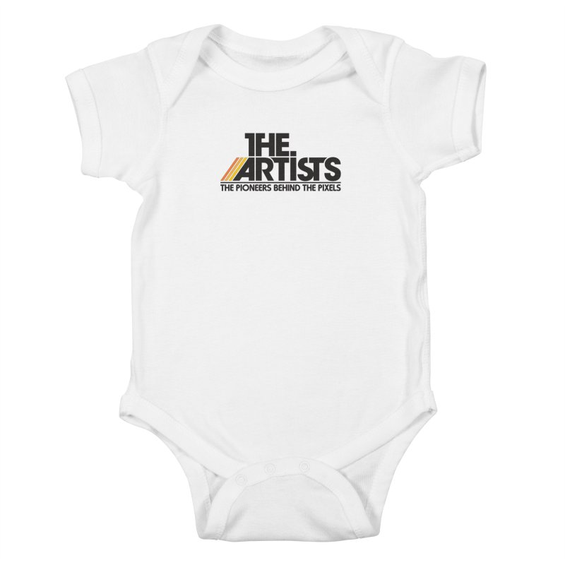 Artists Logo Blip Blip Kids Baby Bodysuit by The Artists