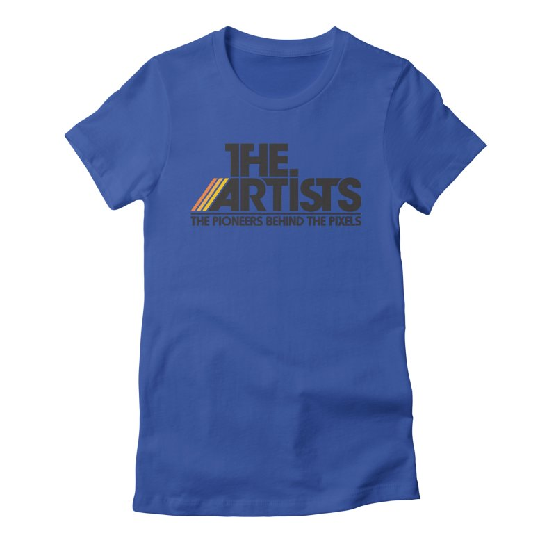 Artists Logo Blip Blip Women's Fitted T-Shirt by The Artists