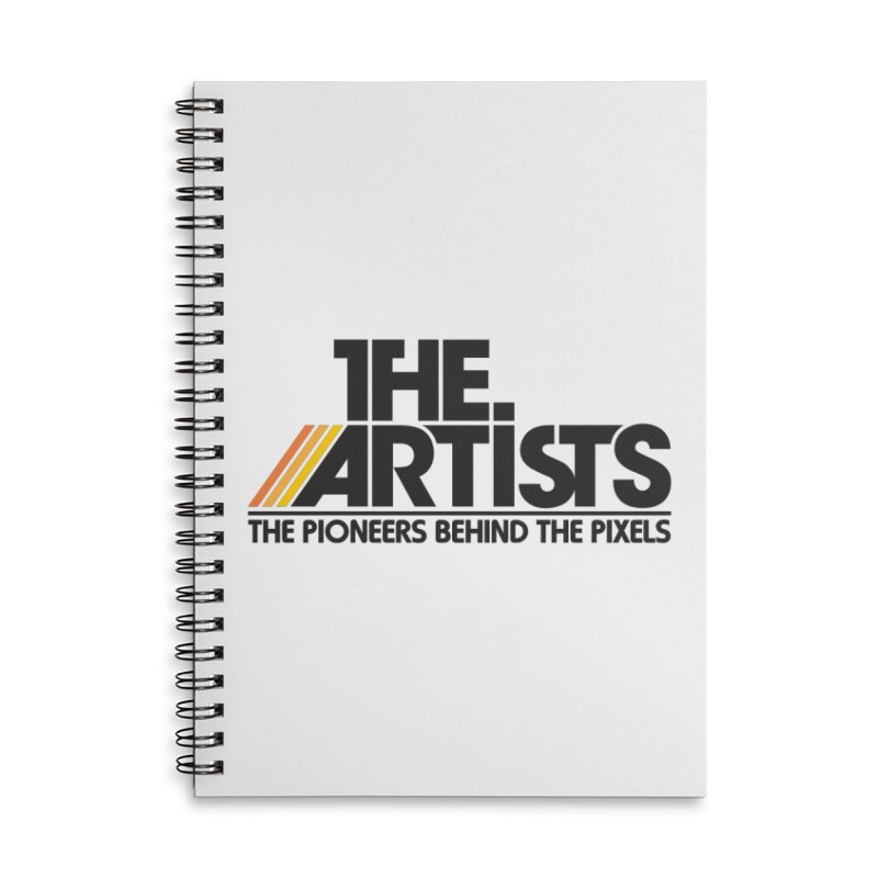 Artists Logo Blip Blip Accessories Lined Spiral Notebook by The Artists