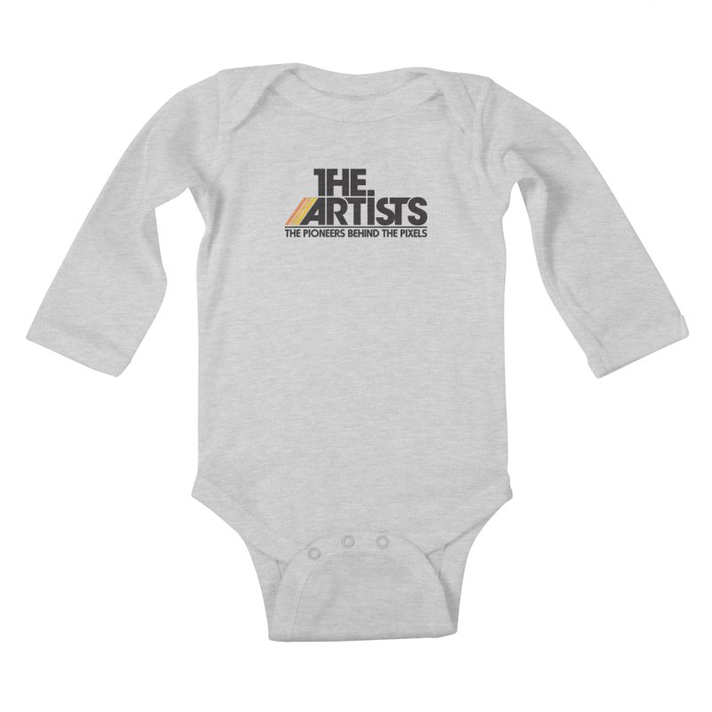 Artists Logo Blip Blip Kids Baby Longsleeve Bodysuit by The Artists