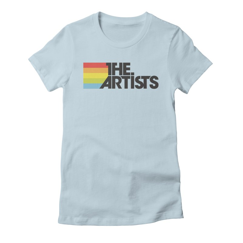Artists Logo Active in Women's Fitted T-Shirt Baby Blue by The Artists