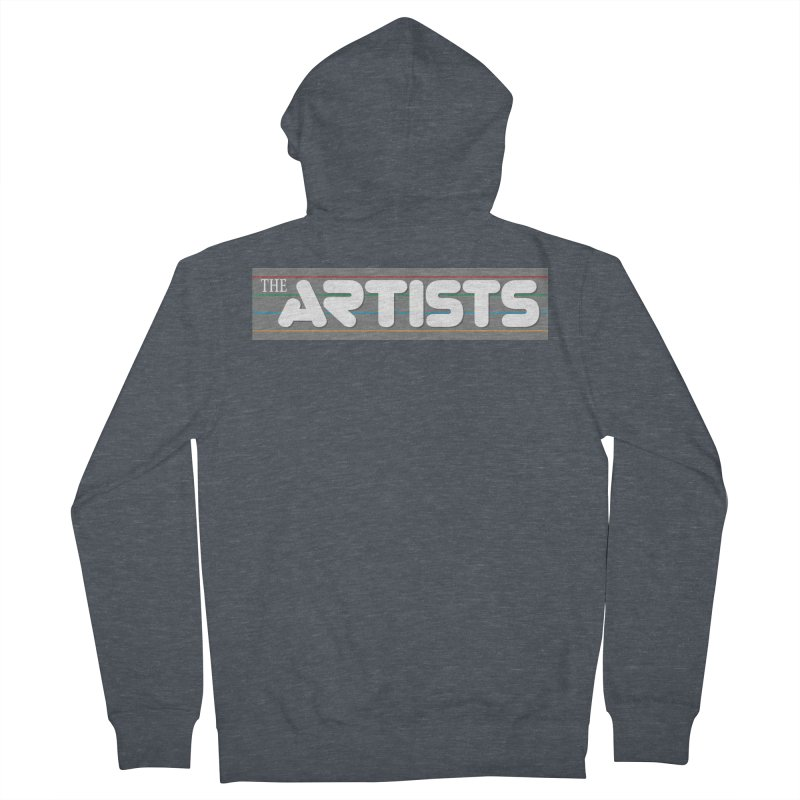 Artists Logo Info Men's French Terry Zip-Up Hoody by The Artists