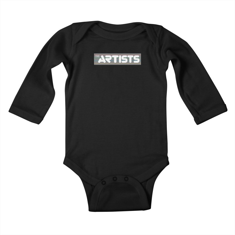 Artists Logo Info Kids Baby Longsleeve Bodysuit by The Artists