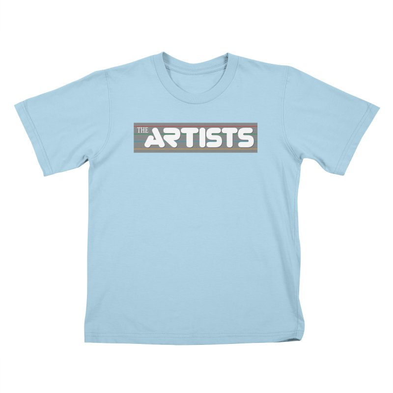 Artists Logo Info Kids T-Shirt by The Artists