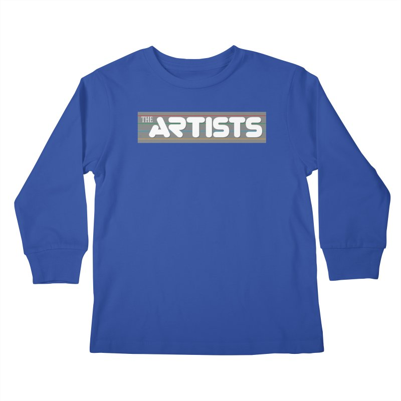 Artists Logo Info Kids Longsleeve T-Shirt by The Artists