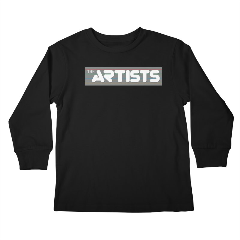 Artists Logo Info Kids Longsleeve T-Shirt by The Artists