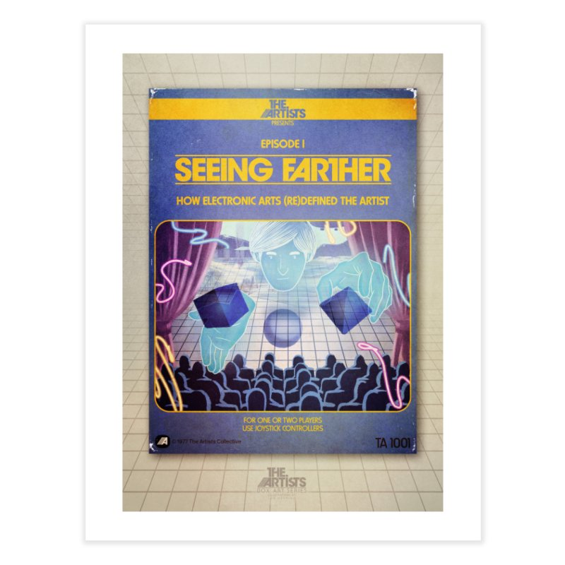 Box Art Poster Series: Seeing Farther Home Fine Art Print by The Artists