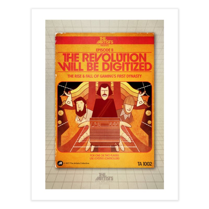 Box Art Poster Series: The Revolution will be Digitized Home Fine Art Print by The Artists