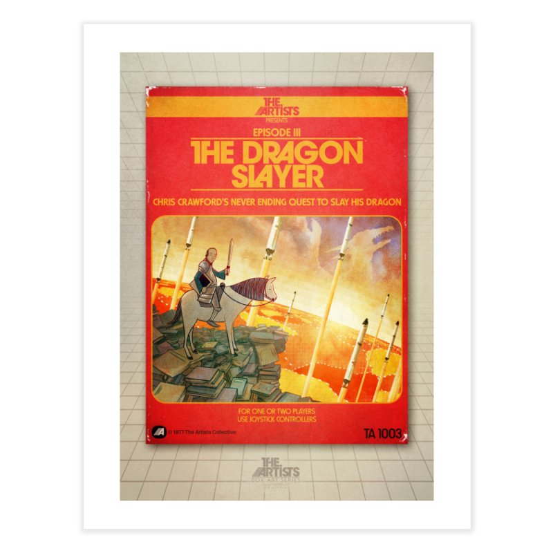 Box Art Poster Series: The Dragon Slayer Home Fine Art Print by The Artists
