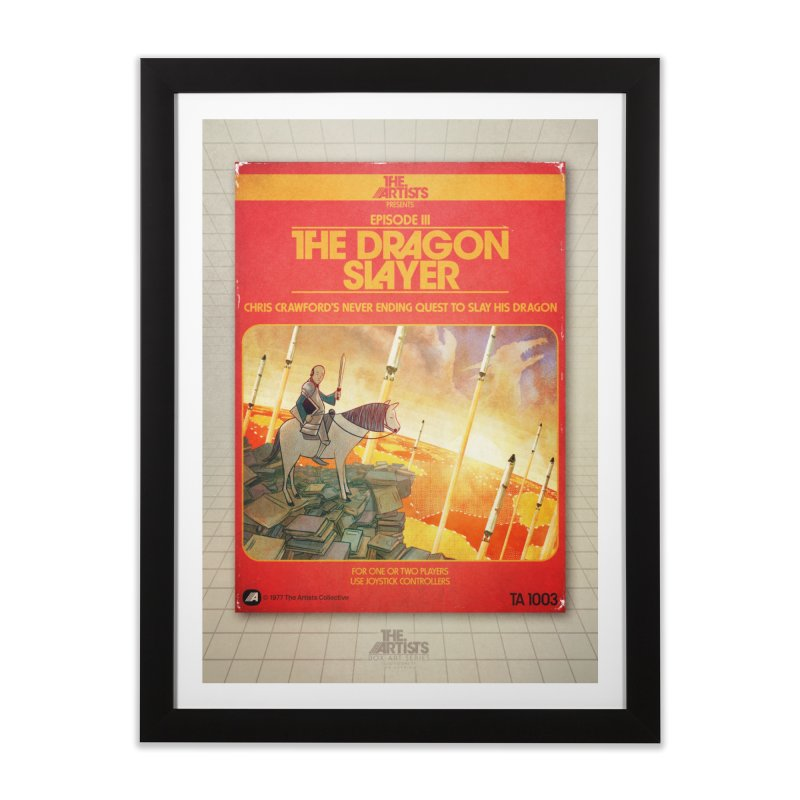 Box Art Poster Series: The Dragon Slayer Home Framed Fine Art Print by The Artists