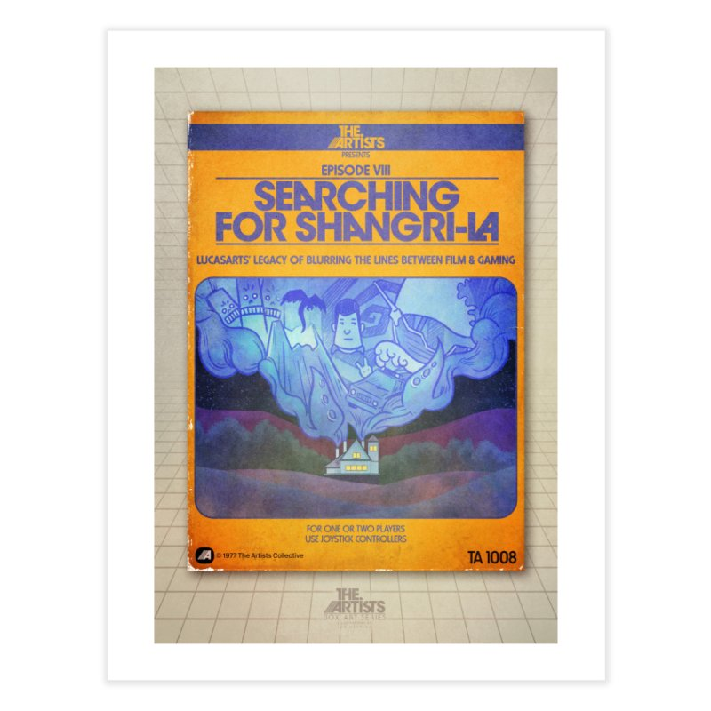 Box Art Poster Series: Searching for Shangri-La Home Fine Art Print by The Artists