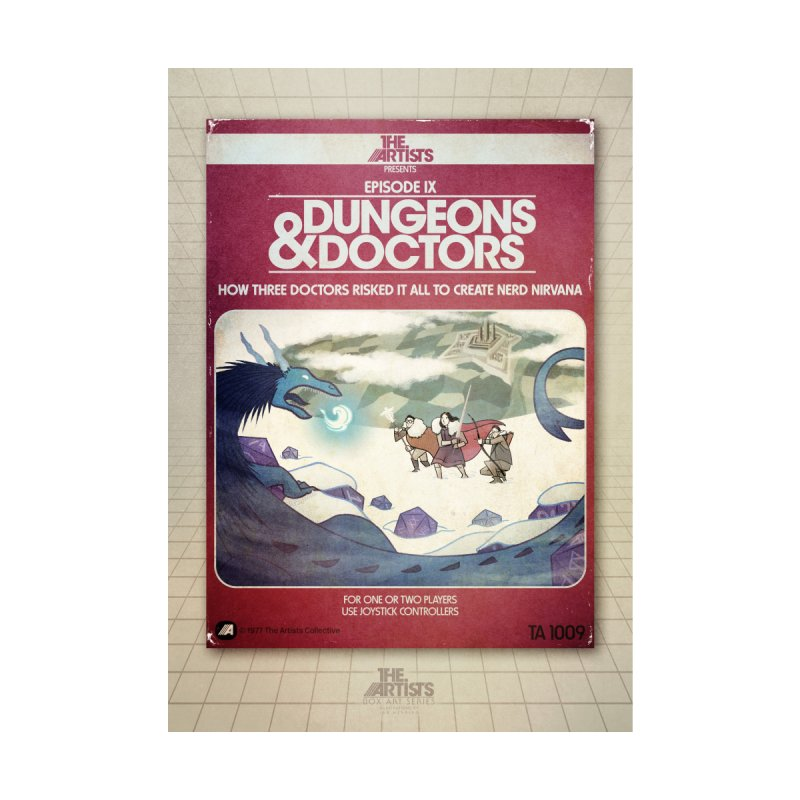 Box Art Poster Series: Dungeons & Doctors Home Framed Fine Art Print by The Artists