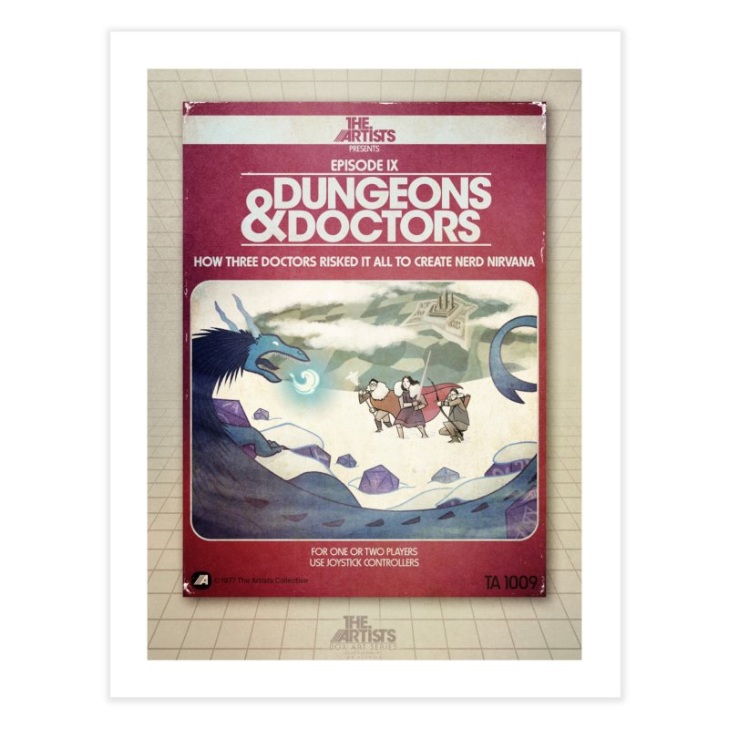 Box Art Poster Series: Dungeons & Doctors Home Fine Art Print by The Artists