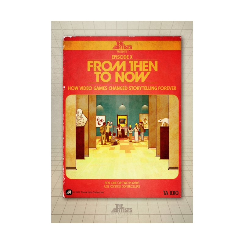 Box Art Poster Series: From Then to Now Home Fine Art Print by The Artists