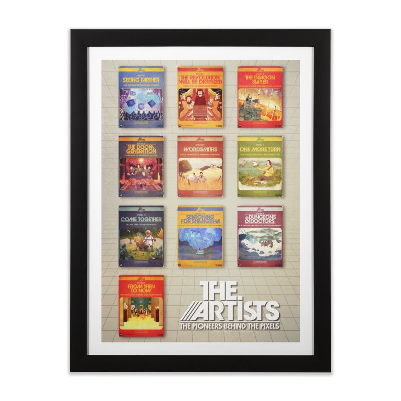 Box Art Poster Series: Season 1 in Framed Fine Art Print Black by The Artists