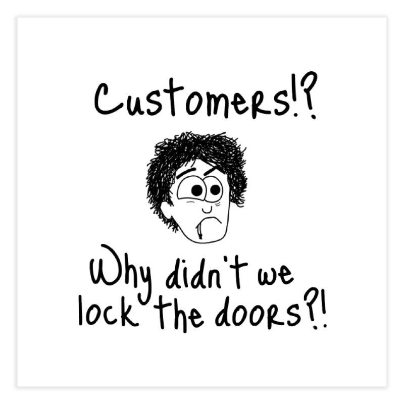 Black Books - Why didn't we lock the doors?! Home Fine Art Print by Adrienne Body