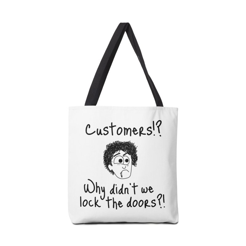 Black Books - Why did't we lock the doors?! Accessories Bag by The Art of Adz