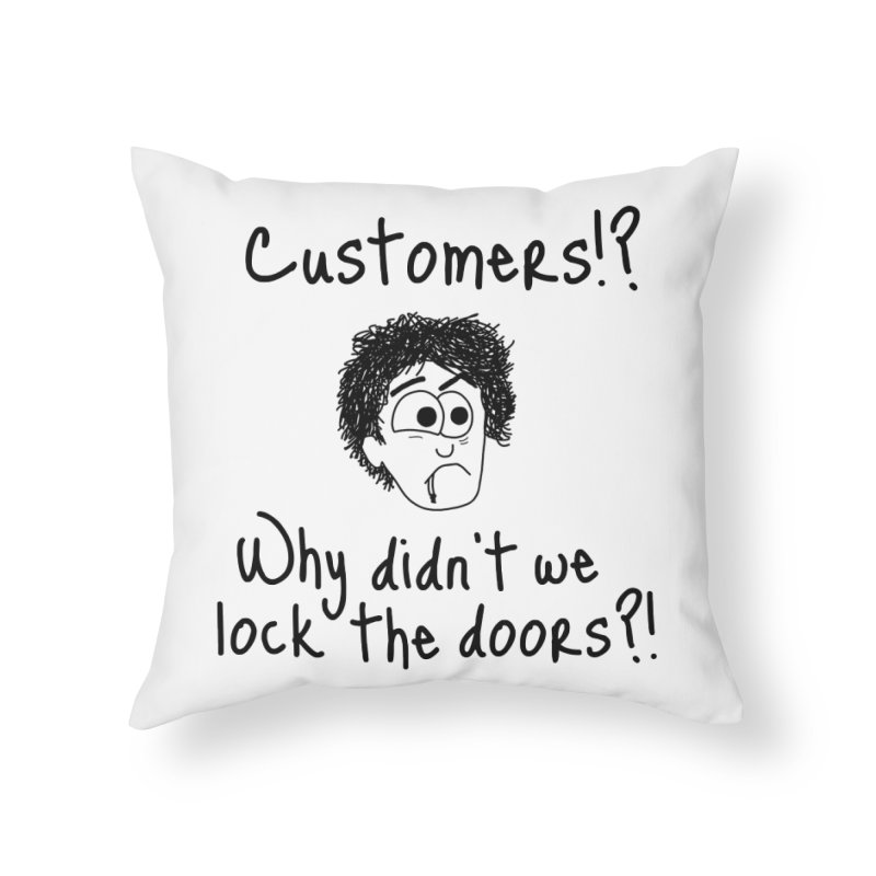 Black Books - Why did't we lock the doors?! Home Throw Pillow by The Art of Adz