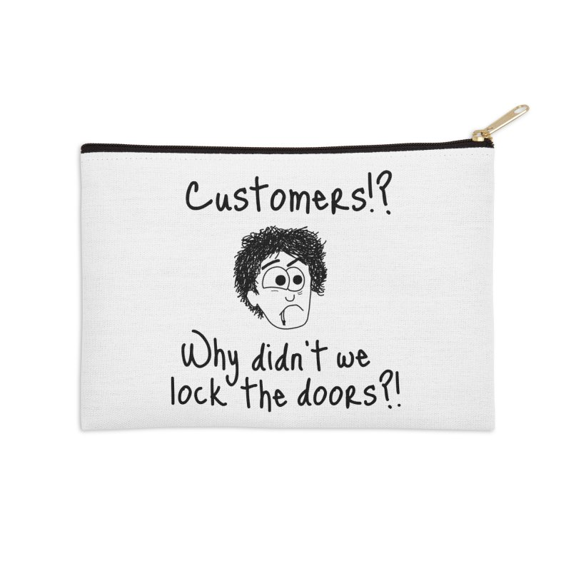 Black Books - Why did't we lock the doors?! Accessories Zip Pouch by The Art of Adz