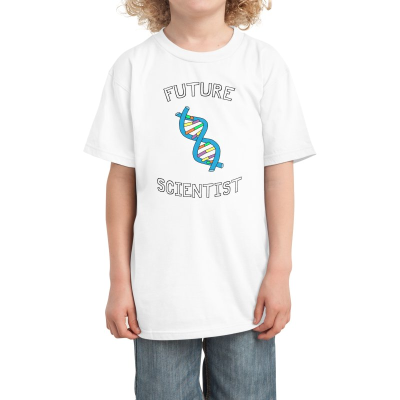 Future Scientist (for light fabric) Kids T-Shirt by Adrienne Body