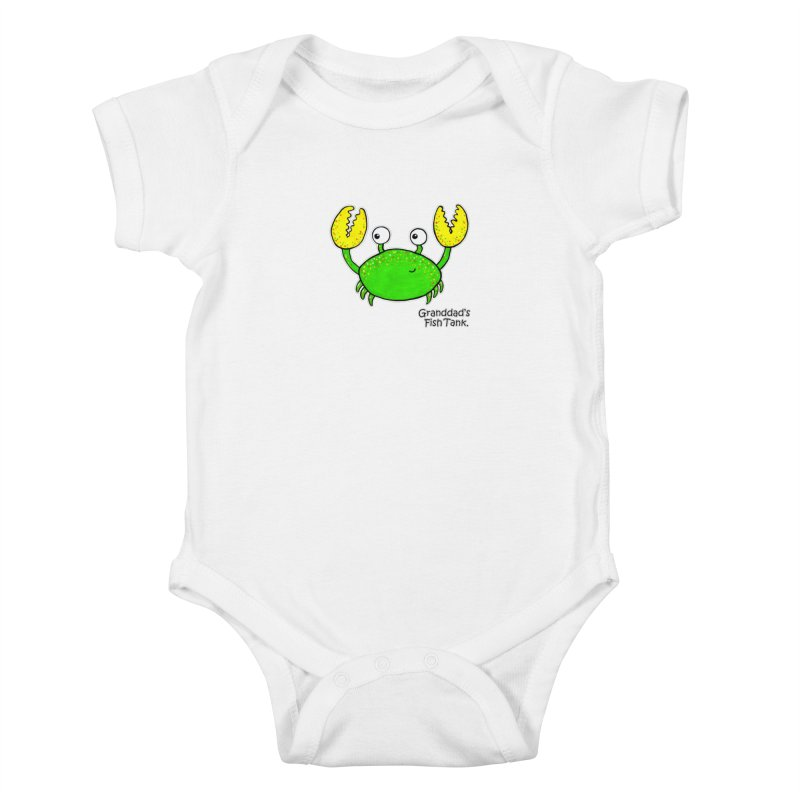 Granddad's Fish Tank - Crab Called Chuckles Kids Baby Bodysuit by The Art of Adz